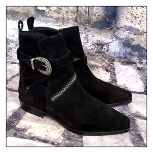 All Saints Tejus Suede Black Boots